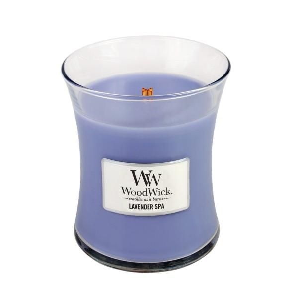 Woodwick «Lavande relaxante» Bougie Parfumée Moyenne