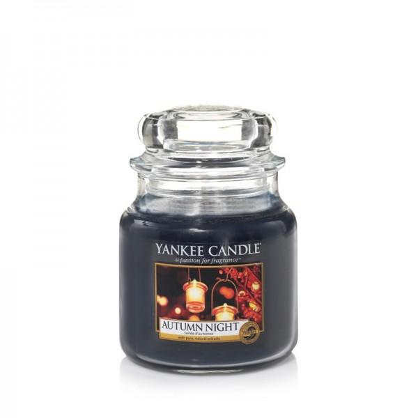 Yankee Candle Duftkerze «Autumn Night» mittel (medium Jar 411g)