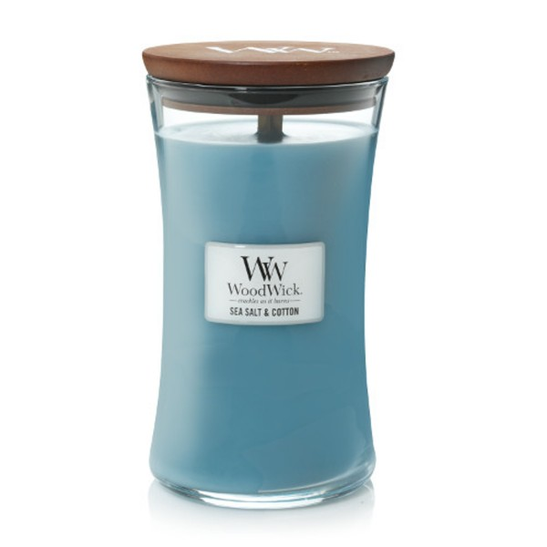 WoodWick Duftkerze «Sea Salt & Cotton» gross