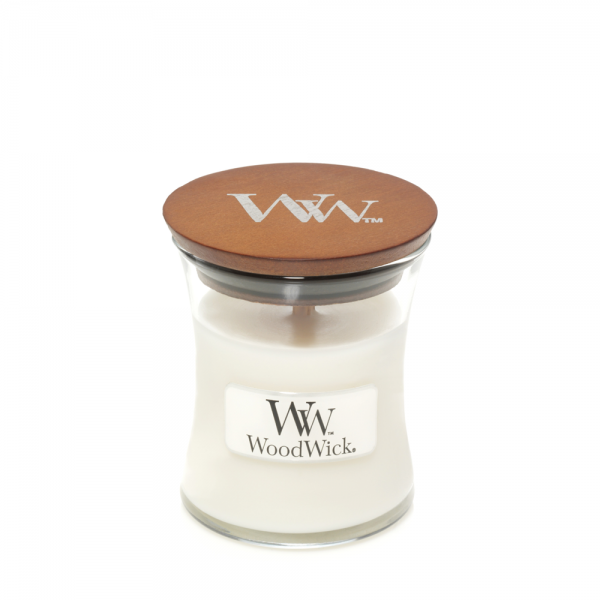 WoodWick Duftkerze «White Teak» mini