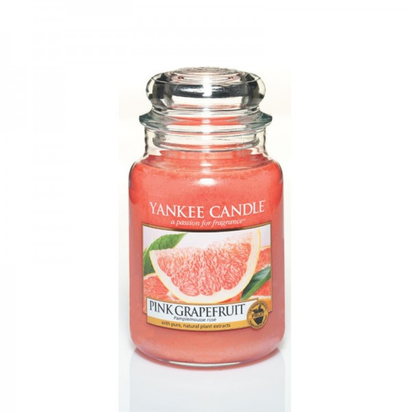 Yankee Candle Duftkerze «Pink Grapefruit» gross (large Jar 623g)