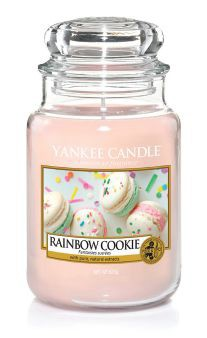 Yankee Candle Duftkerze «Rainbow Cookie» gross (large Jar 623g)