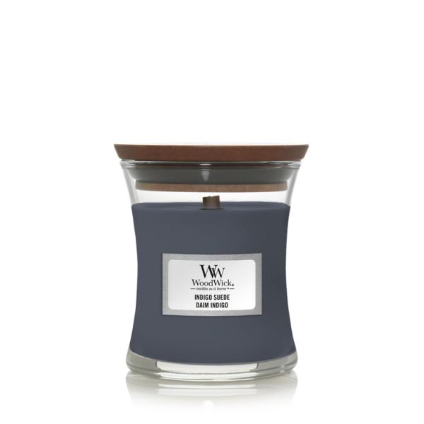 WoodWick «Daim Indigo» Bougie Parfumée mini