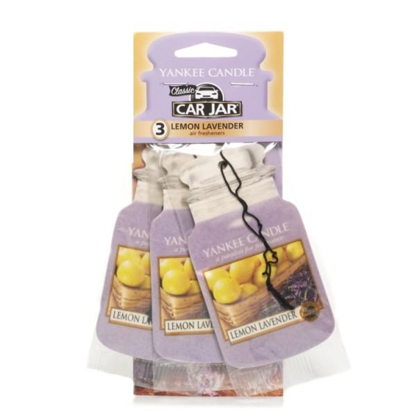 Yankee Candle Autoduft Car Jar Karton «Lemon Lavender» 3 Pack Car Jar