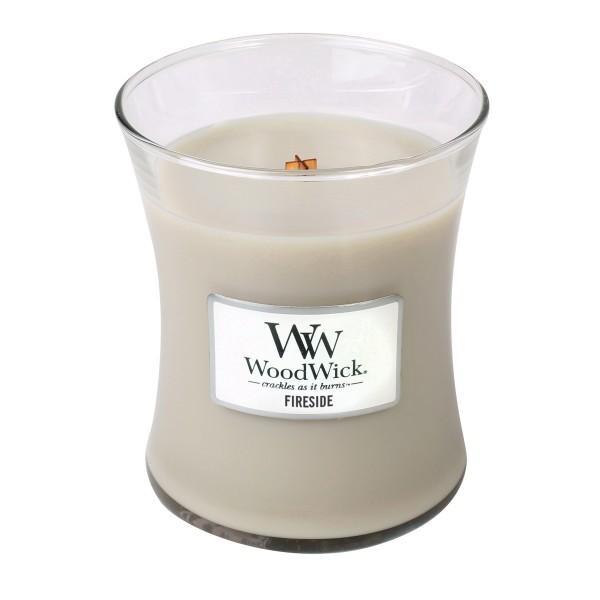 WoodWick Duftkerze «Fireside» mittel