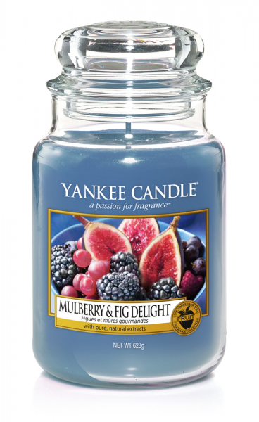 Yankee Candle «Figues et mûres gourmandes» Bougie Parfumée Grande Jarre (large Jar 623g)