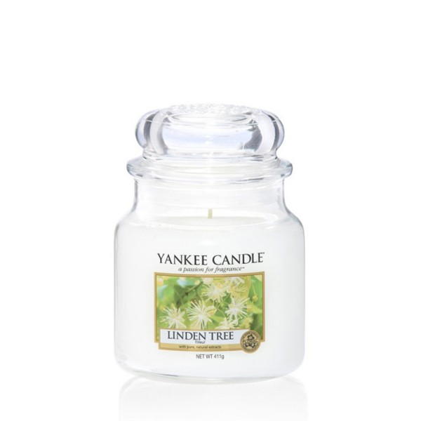 Yankee Candle Duftkerze «Linden Tree» mittel (medium Jar 411g)