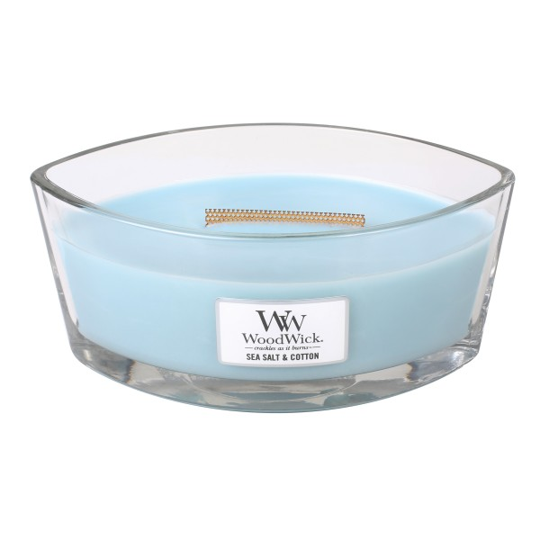 WoodWick Duftkerze «Sea Salt & Cotton» Ellipse