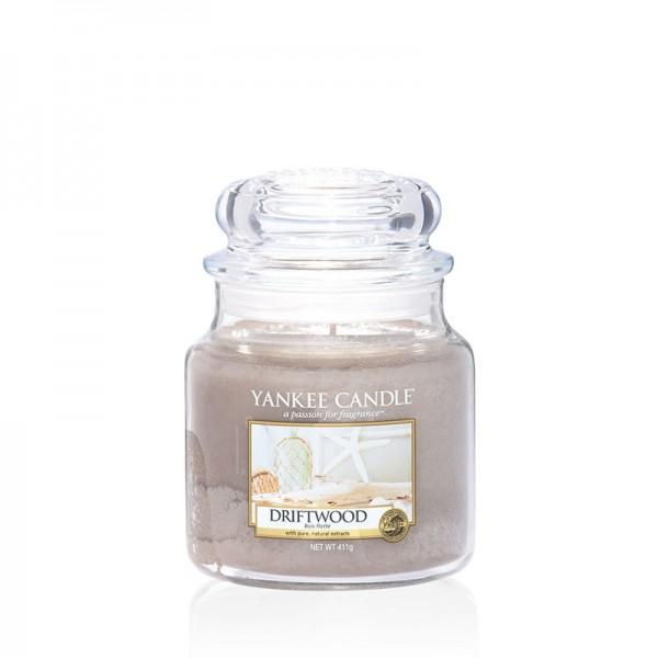 Yankee Candle Duftkerze «Driftwood» mittel (medium Jar 411g)