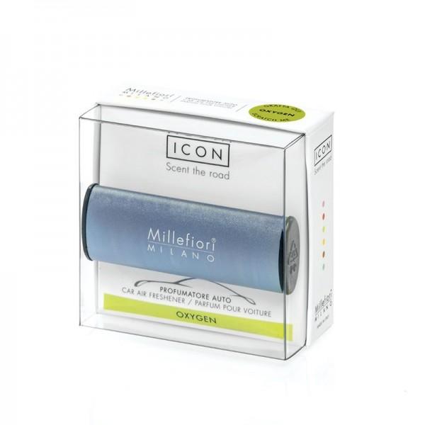 Millefiori Autoduft ICON Metallo «Oxygen» Blau matt