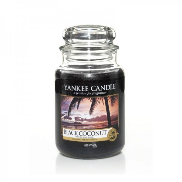 Yankee Candle Duftkerze «Black Coconut» gross (large Jar 623g)