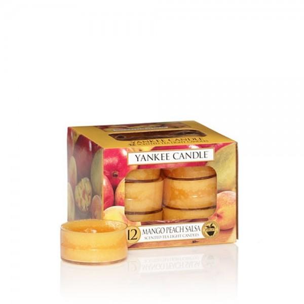 Yankee Candle Bougies à réchaud «Mangue et pêche» 12 pièces