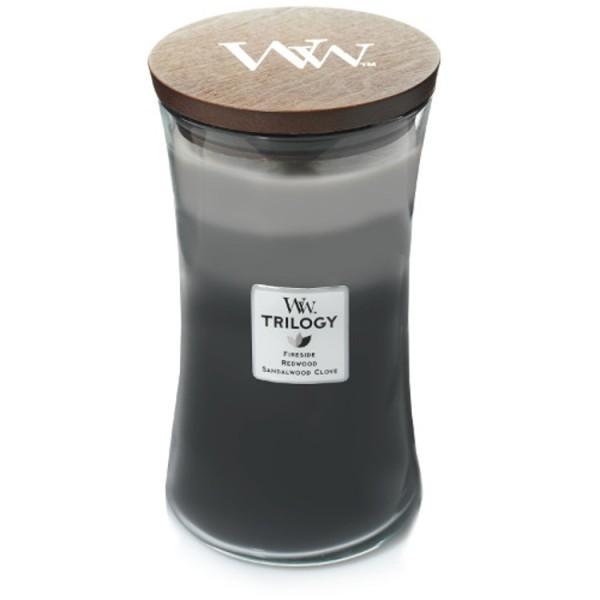 WoodWick Trilogy «Forêt ensoleillé» Bougie Parfumée grande