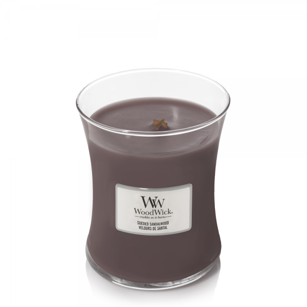 WoodWick Duftkerze «Sueded Sandalwood» mittel