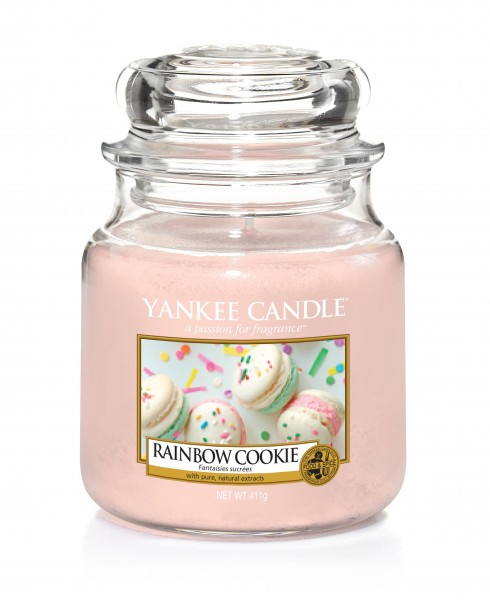 Yankee Candle Duftkerze «Rainbow Cookie» mittel (medium Jar 411g)