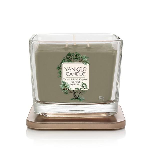 Yankee Candle Duftkerze Elevation «Vetiver & Black Cypress» mittel