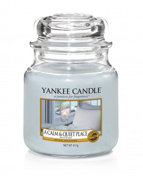Yankee Candle Duftkerze «A calm & quiet Place» mittel (medium Jar 411g)