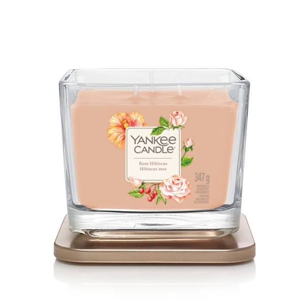 Yankee Candle Duftkerze Elevation «Rose Hibiscus» mittel