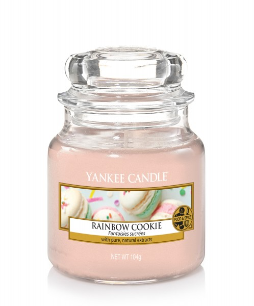 Yankee Candle Duftkerze «Rainbow Cookie» klein (small Jar 104g)