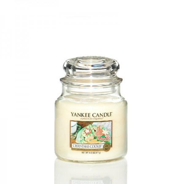 Yankee Candle Duftkerze «Christmas Cookie» mittel (medium Jar 411g)