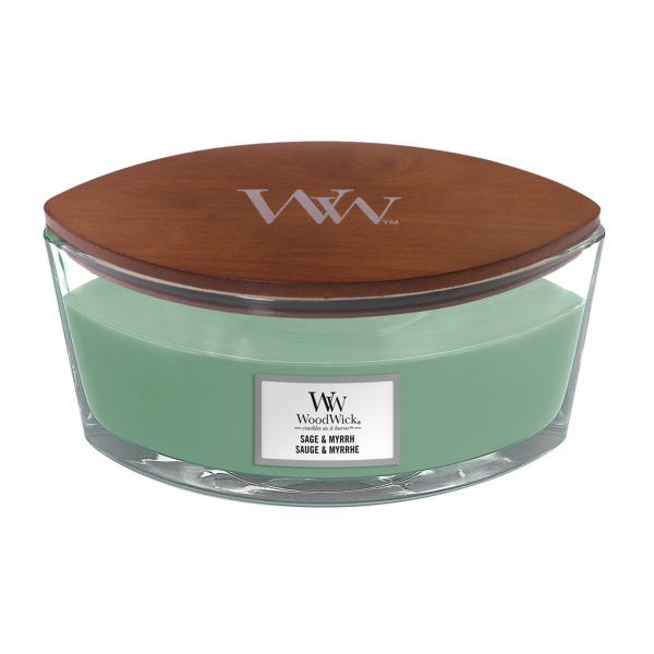 WoodWick Duftkerze «Sage & Myrrh» Ellipse