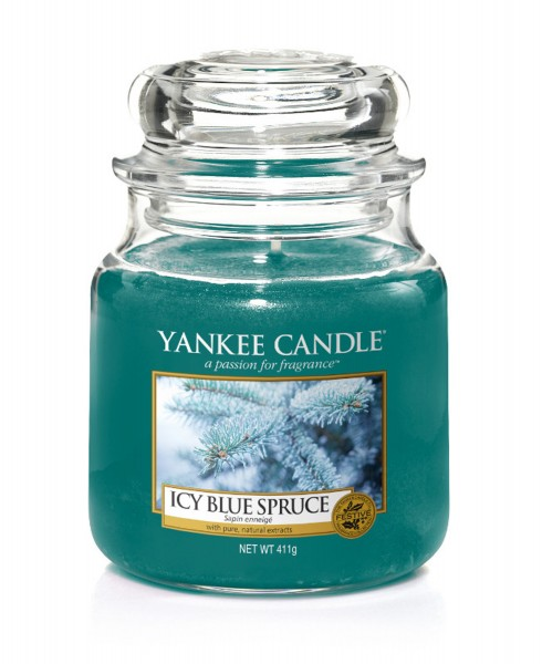 Yankee Candle Duftkerze «Icy Blue Spruce» klein (small Jar 104g)