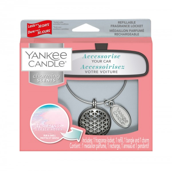 Yankee Candle Autoduft «Pink Sands Geometric» Charming Scents, Starter Kit