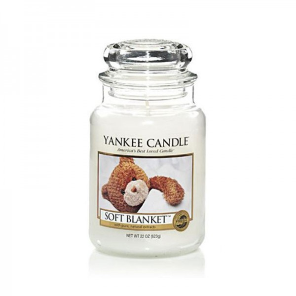 Yankee Candle Duftkerze «Soft Blanket» gross (large Jar 623g)
