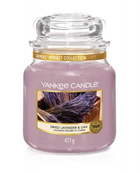 Yankee Candle Duftkerze «Dried Lavender & Oak » mittel