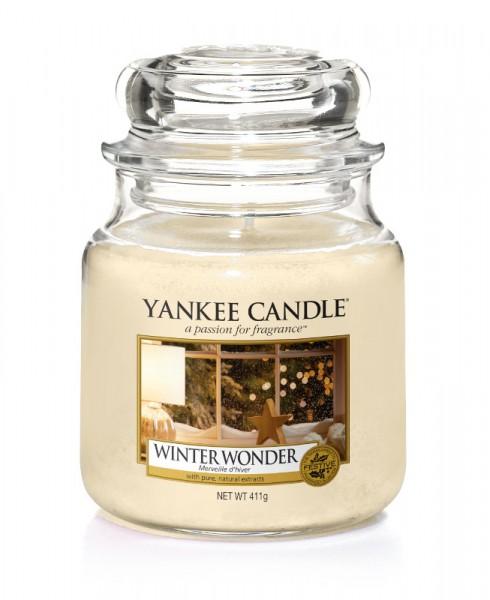 Yankee Candle Duftkerze «Winter Wonder» mittel (medium Jar 411g)