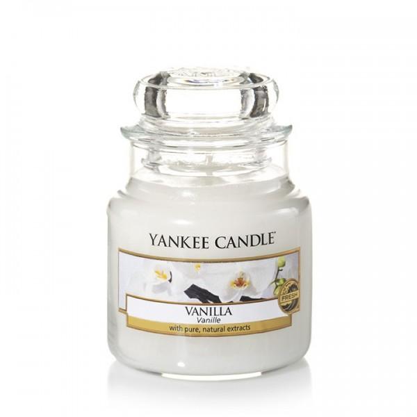 Yankee Candle Duftkerze «Vanilla» mittel (medium Jar 411g)