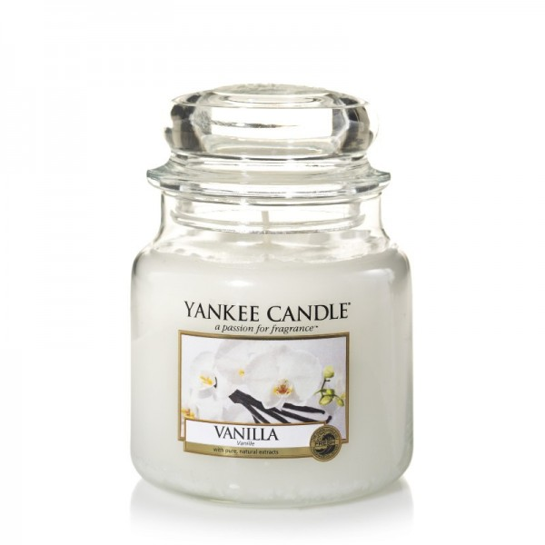 Yankee Candle Duftkerze «Vanilla» gross (large Jar 623g)