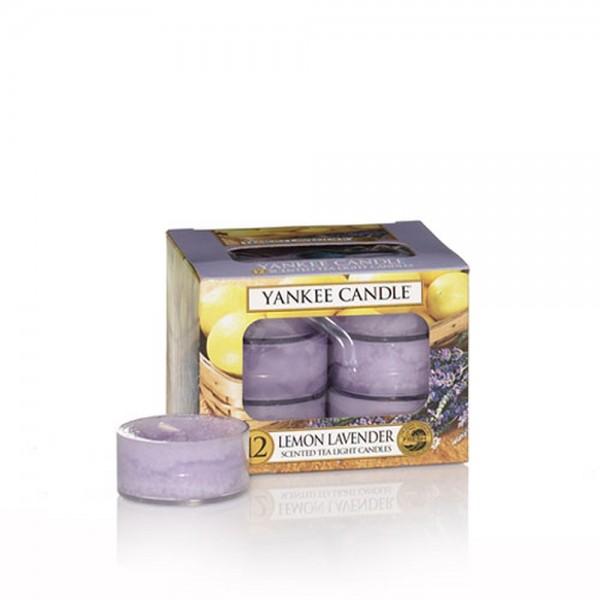 Yankee Candle Bougies à réchaud «Lemon Lavender» 12 pièces