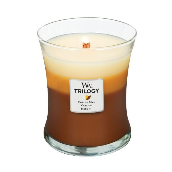 Woodwick Duftkerze Trilogy  «Café Sweets» mittel (medium Jar 283g)