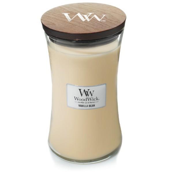 WoodWick Duftkerze «Vanilla Bean» gross