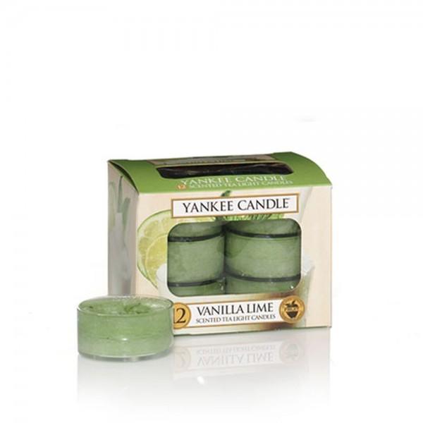 Yankee Candle Bougies à réchaud «Vanilla Lime» 12 pièces