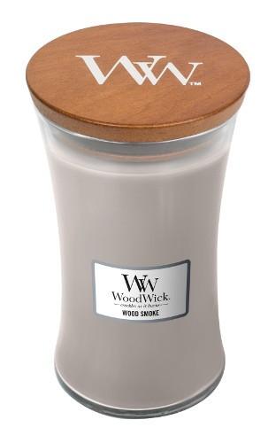WoodWick Duftkerze «Wood Smoke» gross
