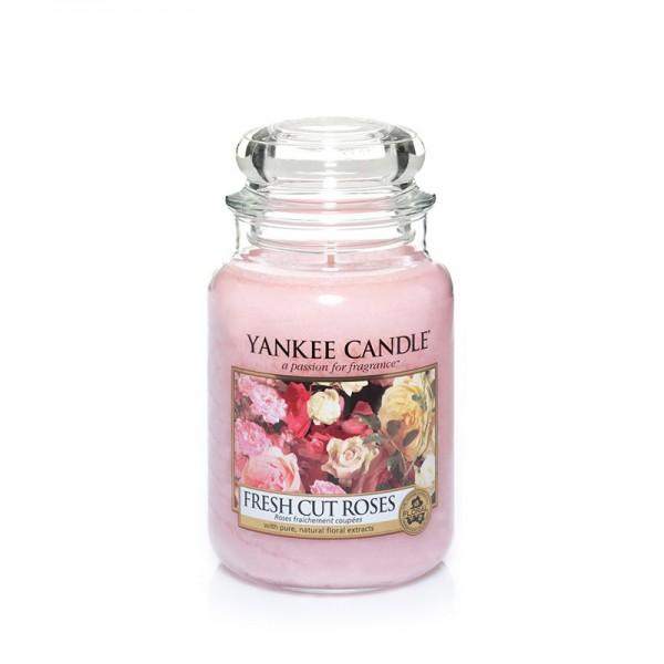 Yankee Candle «Roses fraîchement coupées» Bougie Parfumée Grande Jarre (large Jar 623g)