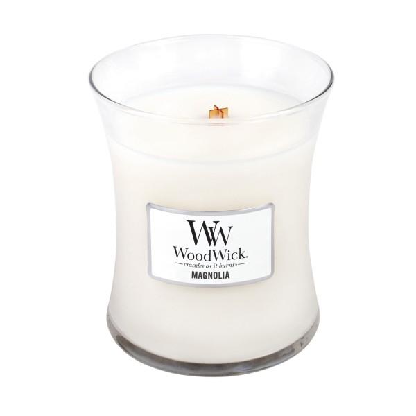 WoodWick Duftkerze «Magnolia» mittel