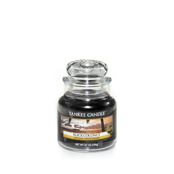 Yankee Candle Duftkerze «Black Coconut» klein (small Jar 104g)