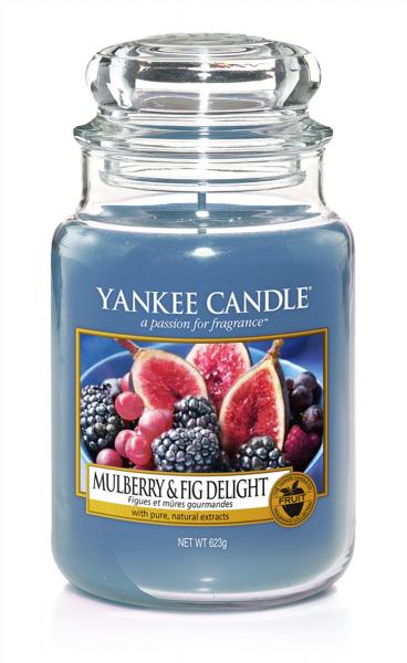 Yankee Candle Duftkerze «Mulberry & Fig Delight» gross (large Jar 623g)
