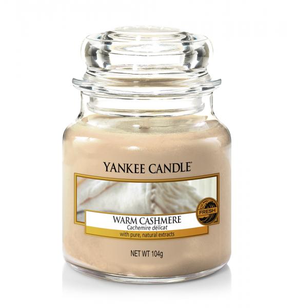 Yankee Candle Duftkerze «Warm Cashmere» klein (small Jar 104g)