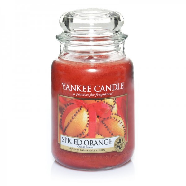Yankee Candle Duftkerze «Spiced Orange» gross (large Jar 623g)
