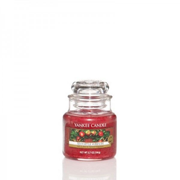 Yankee Candle Duftkerze «Red Apple Wreath» klein (small Jar 104g)
