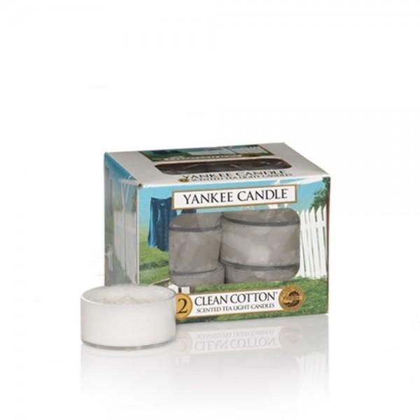 Yankee Candle Teelichter «Clean Cotton» 12 Stück