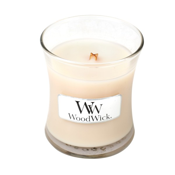 WoodWick Duftkerze «Vanilla Bean» mini