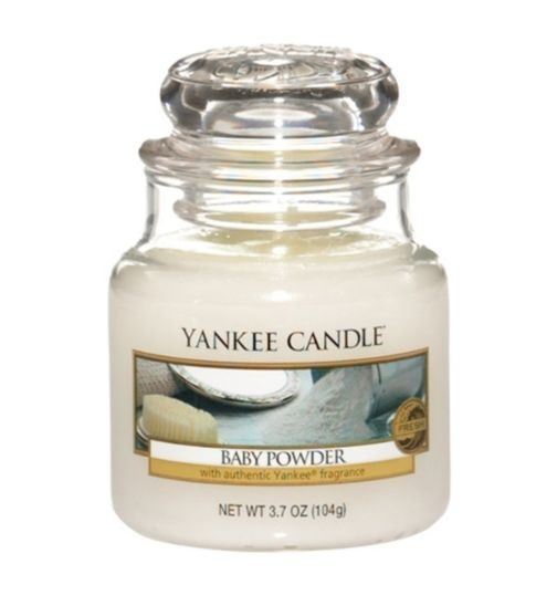 Yankee Candle «Baby Powder» Bougie Parfumée Petite Jarre (small Jar 104g)