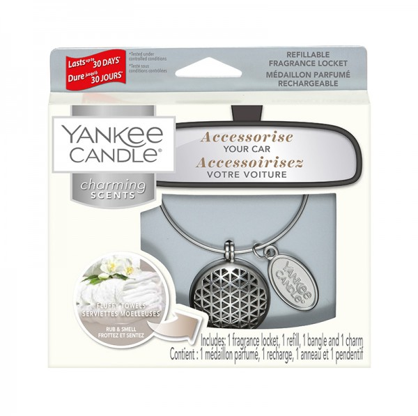 Yankee Candle Autoduft «Fluffy Towels Geometric» Charming Scents, Starter Kit