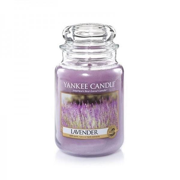 Yankee Candle Duftkerze «Lavender» gross (large Jar 623g)