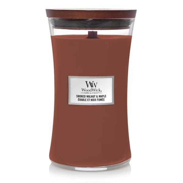 WoodWick «Érable et noix fumée» Bougie Parfumée grande